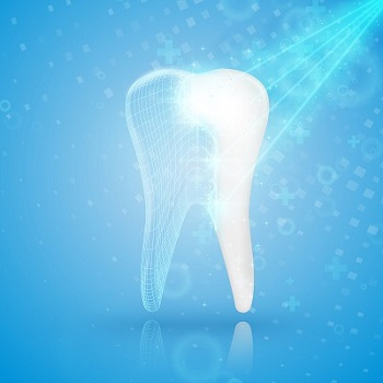 concept image of tooth reconstruction