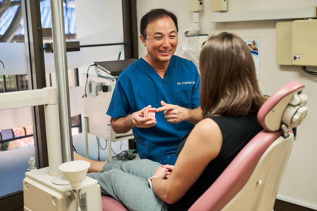 Dr. Stphen Ho takes pride in his dental work at his Waikiki dental practice