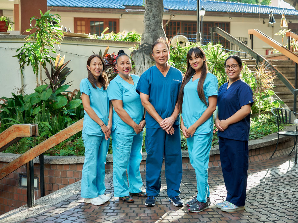 The Honolulu Dentistry Team in Waikiki. The Hygienists, Dental Assistants and Office Staff at Stephen R. Ho DDS