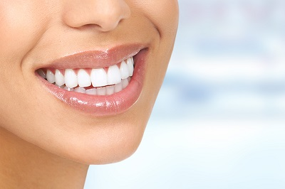 close up of beautiful healthy smile