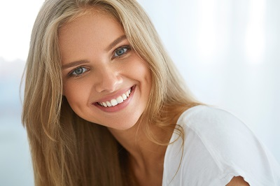 Portrait Of Attractive Happy Healthy Girl With Perfect Smile