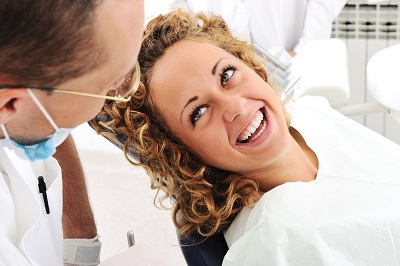 woman getting a dental check up