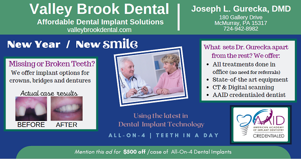 valley brook dental has affordable dental implant solutions for you. schedule your free consultation with dr. gurecka today.