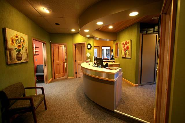 Our spacious reception area at our Auburn Dental Office