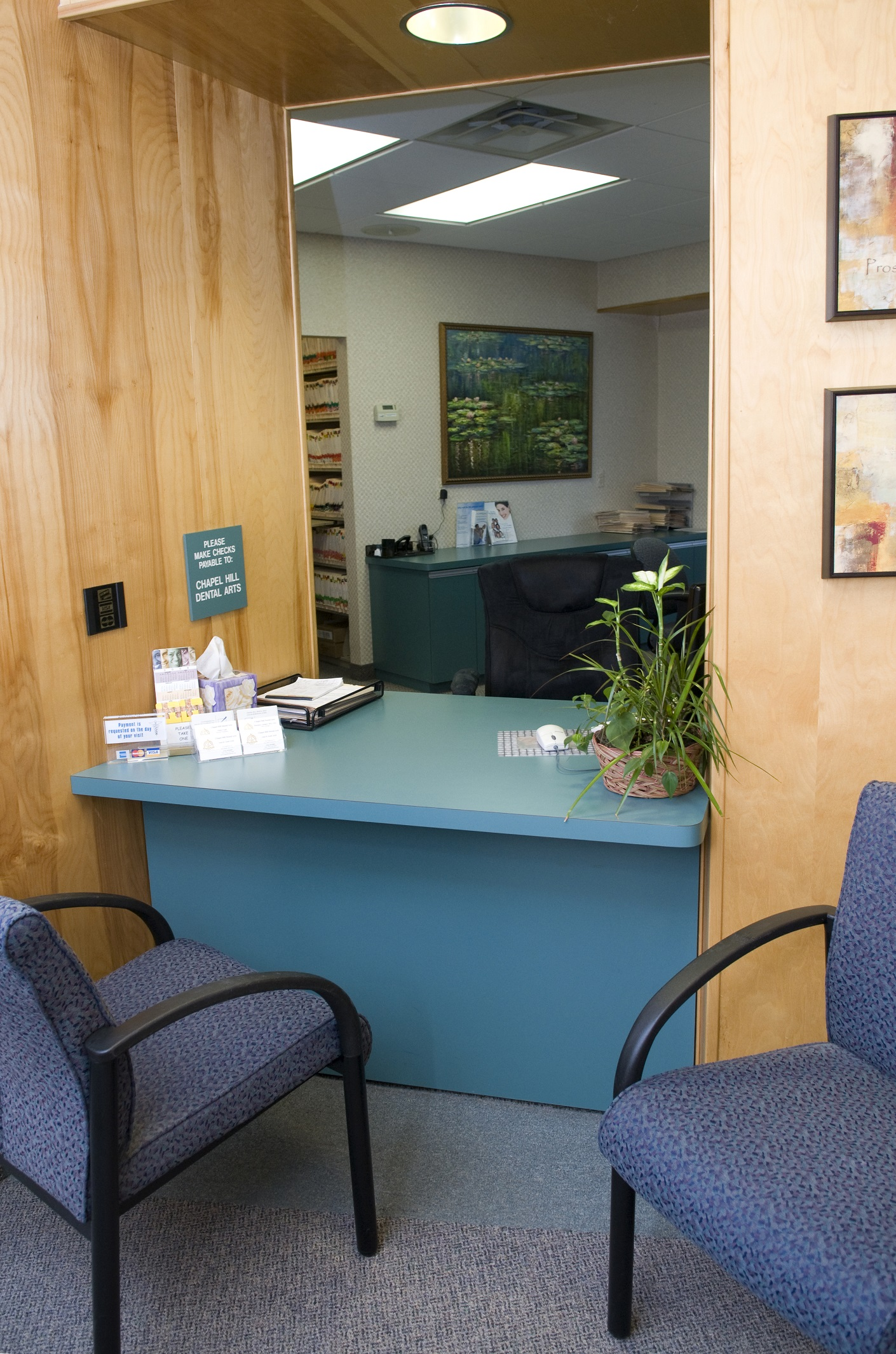 Chapel Hill Dental Arts Check-In Area