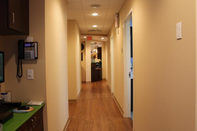 Picture of the hallway leading to examination rooms at Pediatric Dentistry of Garden City