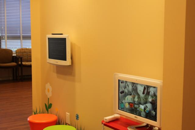 Picture of East Garden City dental office games and televisions
