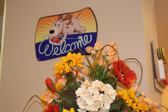 Picture of welcome sign in waiting room