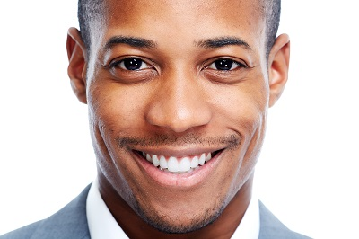 African American man close-up isolated white background