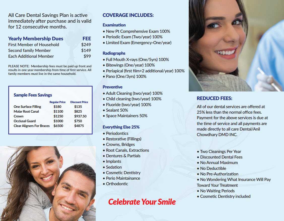 yearly all dental care savings plan