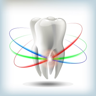 3D image of tooth. dentistry concept
