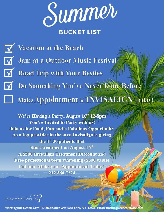 Morningside Dental Care News - Summer Bucket List