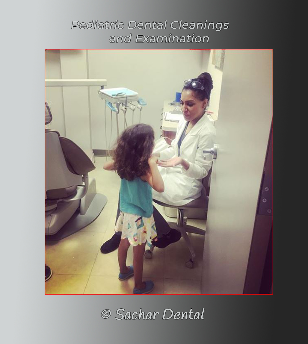Picture of dental hygienist Amy with girl, pediatric patient for dental cleaning and examination