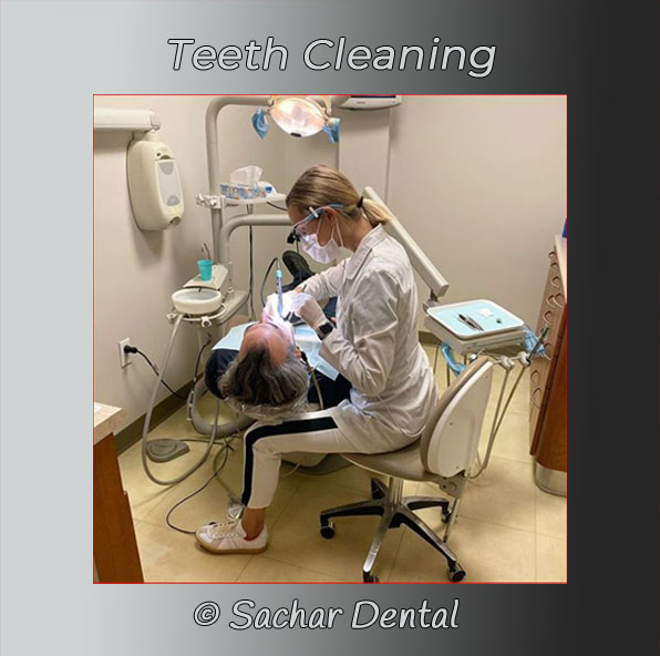 Picture of dental hygienist doing a dental cleaning