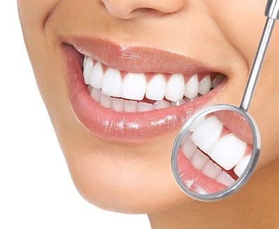 close up smile with healthy gums