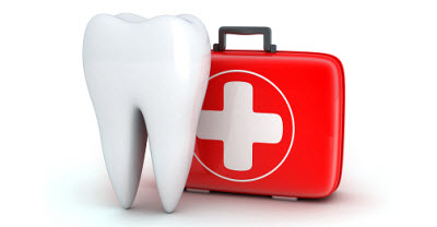 illustration of tooth and medical kit