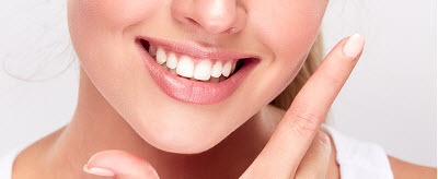 close up of a woman's healthy smile