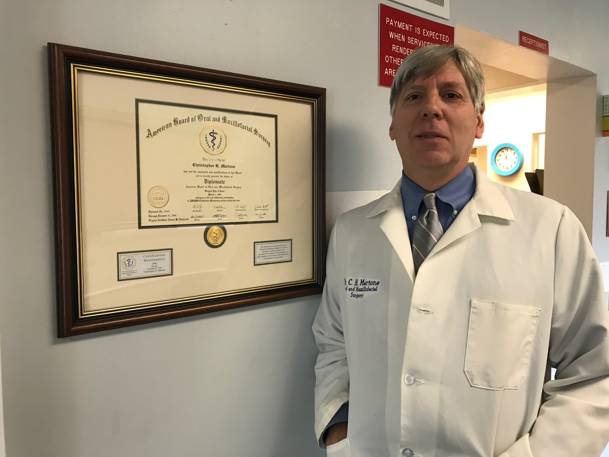 Image of Dr. Christopher H. Martone, DMD, inside his practice