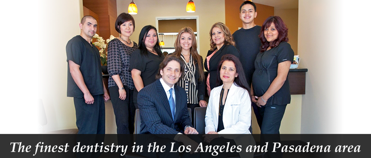 Staff photo at Pasadena Smiles: the best dental team in the Los Angeles and Pasadena area