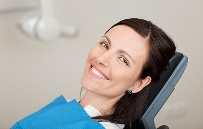 woman sitting in dental chair awaiting treatment