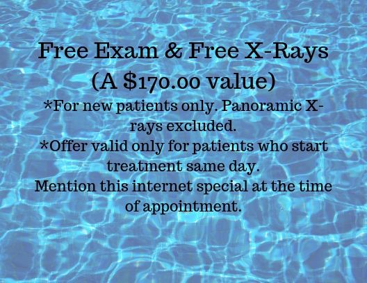 free exam and xrays