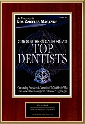 Top dentist 2015 award - Dr. Millard Roth