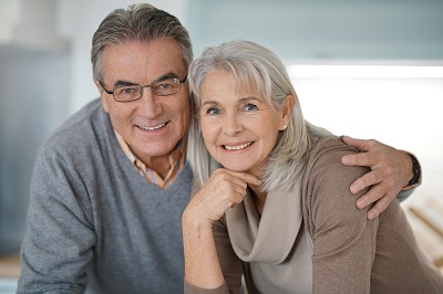 Portrait of senior couple looking at camera