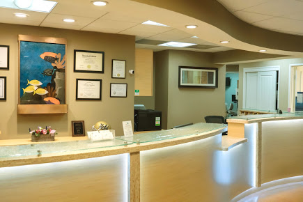 reception desk - Premiere Dental Group - Dentistry in Marina Del Rey