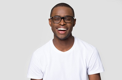 Image of young African American man smiling