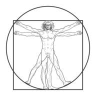 Image of da Vinci's Vitruvian Man